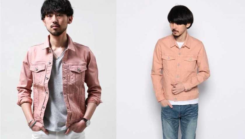 同じジャケットを着た同じ人物の写真を並べた様子。