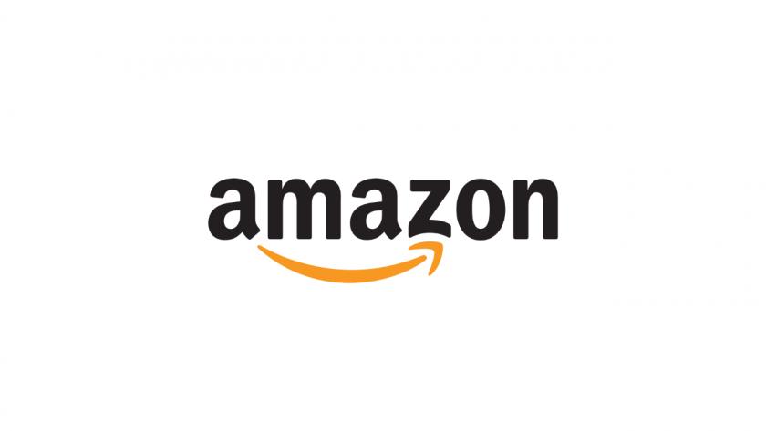 amazon のロゴ。