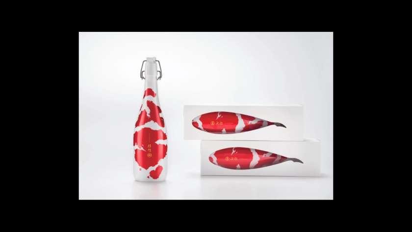 錦鯉のデザイン。
